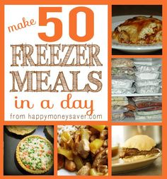 """You can make 50 Freezer Meals in a Day - Amazing Menu, and recipes are """"normal"""" foods I would eat. Best menu out there for freezer meals recipes."""