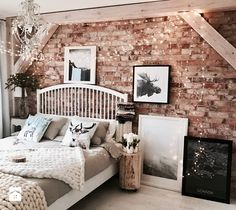 31 Beautiful bedrooms with great ideas that you should to try - bedroom decor ideas Zen Master Bedroom, Gold Bedroom, Bedroom Bed, Dream Bedroom, Bedroom Decor, Bed Room, Bedroom Ideas, String Lights In The Bedroom, Small Bedroom Designs