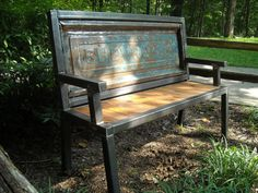 Bench made from an old tailgate by rack22 on Etsy, $950.00