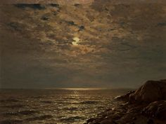 View Seascape by Eugen Taube on artnet. Browse upcoming and past auction lots by Eugen Taube. Fantasy Art Landscapes, Landscape Paintings, Moonlight Painting, Small Canvas Art, Rocky Shore, Aesthetic Painting, Prince, Moon Art, Aesthetic Pictures