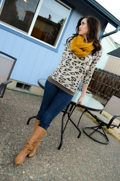 Neutral animal print and a pop of color