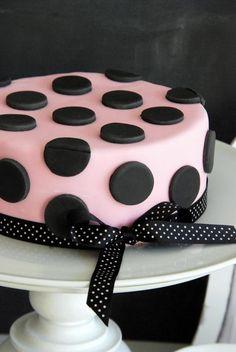 polka dot fondant cake--darling!!