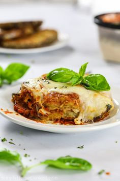A classic Baked Eggplant Parmesan with breaded eggplants, marinara sauce, and hot bubbling mozzarella and parmesan. It's the ultimate Italian comfort food. Italian Eggplant Recipes, Baked Eggplant Recipes, Italian Recipes, Baked Eggplant Parmesan, Veggie Recipes, Vegetarian Recipes, Cooking Recipes, Veggie Meals, Healthy Dinners