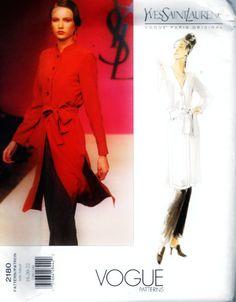 Vogue Pattern Yves Saint Laurent 2180