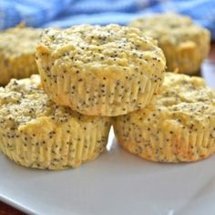 Get a protein punch with these 100-cal muffins that are sweet and lemony!