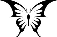 Gem Butterfly Stencil - BASIC Stencils Collection: Available in sizes from to - order sizes below. Butterfly Outline, Butterfly Stencil, Butterfly Drawing, Butterfly Painting, Butterfly Wall, Stencil Templates, Stencil Patterns, Stencil Painting, Fabric Painting