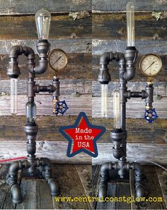 Industrial Light  lampe Steampunk rustique par CentralCoastGlow