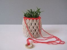 Items similar to Plant Hanger, crochet on Etsy Diy Crochet, Plant Hanger, Knots, Macrame, Deco, Sewing, Knitting, Etsy, Unique Jewelry