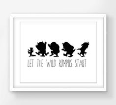 30% OFF SALE Where The Wild Things Are Print by FreezleDigitalArt