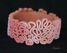 fimo - naramek by melva Polymer Clay Bracelet, Polymer Clay Canes, Polymer Clay Projects, Polymer Clay Creations, Diy Clay, Clay Crafts, Clay Extruder, Clay Tutorials, E Design