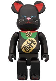 BE@RBRICK 400% 招き猫 黒
