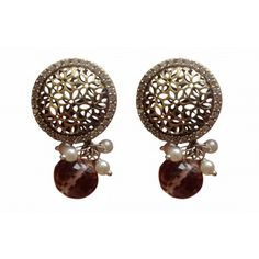 Victorian inspired Jali work earring - Online Shopping for Earrings by AISHWARYA JEWELLERS
