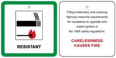 Fire safety of furniture and  furnishings in your holiday home