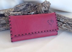 Genuine Leather ''love'' tobacco pouch/ case by TobaccoPouch