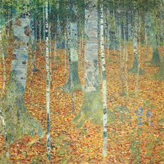 Gustav Klimt - Birch Forest - 1903 Oil on canvas 110 × 110 cm Dresden, Gemäldegalerie Alte Meister