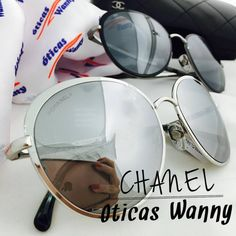 Já conhece o novo queridinho da #Chanel ? A grife apostou nos espelhados para a sua nova coleção e nós é claro que amamos  #oticaswanny #pontooficial #oculosredondo #fashion #moda