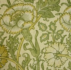 Pink and Rose Fabric A large floral pattern fabric in cowslip and fennel.