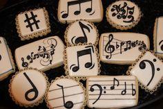 Notas Musicales 12 levantado Premium Oblea Cake Toppers