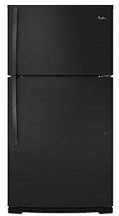 Whirlpool WRT541SZDB 21.3 Cu. Ft. Black Counter Depth Top Freezer Refrigerator
