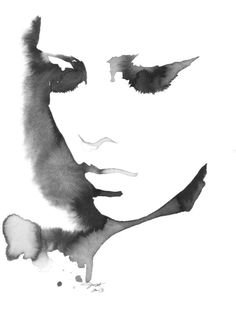 Black and white watercolours Take Advantage of Me, print from original watercolor fashion illustration by Jessica Durrant Art Watercolor, Watercolor Portraits, Watercolor Fashion, Watercolor Journal, Art Et Illustration, Illustration Fashion, Oeuvre D'art, Love Art, Painting & Drawing