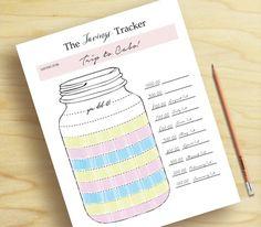 Savings Tracker, Finance Organizer, Savings Plan, Savings Printable, Savings…