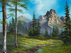 Bob Ross Painting - Wilderness Trail by C Steele