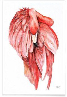 Pink Flamingo 2 als Premium Poster von Karolina Kijak | JUNIQE