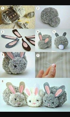 Kids Discover Trends: Pom pom - Me (Lele) he and the kids crafts for kids for teens to make ideas crafts crafts Kids Crafts Cute Crafts Craft Projects Arts And Crafts Bunny Crafts Craft Tutorials Cute Diys Rabbit Crafts Easter Crafts For Adults Kids Crafts, Bunny Crafts, Cute Crafts, Craft Projects, Diy And Crafts, Sewing Projects, Craft Tutorials, Rabbit Crafts, Crafts With Yarn