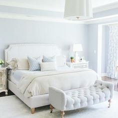 Blue Bedrooms, Transitional, bedroom, Kate Marker Interiors