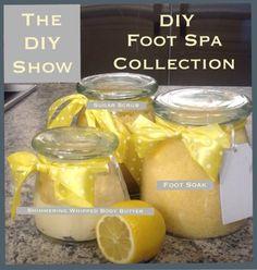 DIY Foot soak, DIY foot scrub, DIY body butter  Contact me to purchase 4oz Sugar Scrub $6 Reusable Container to make more