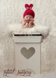 Little Sweet Heart Hat Crochet Pattern - 5 Sizes Included