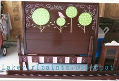 whimsical painted bed | Lake Girl Paints: Whimsical Girl's Headboard