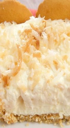Coconut Cream Pie Bars: I opted to make my own vanilla pudding and sweetened whipped cream. The original recipe uses pudding mix and frozen whipped topping. I will cast no stones if you go the simpler route. Coconut Desserts, Coconut Recipes, Fun Desserts, Delicious Desserts, Dessert Recipes, Yummy Food, Cream Recipes, Vegan Desserts, Vegan Recipes
