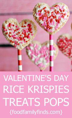 Valentine's Day Rice Krispies Treats Pops