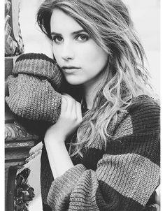 Emma Roberts whistful