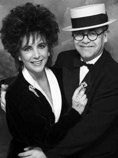 Elizabeth Taylor & Elton John.  Seriously, where DO you pin this???