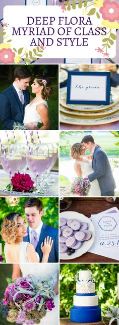 Romantic Vintage Wedding Theme in Floral | Fun Wedding Motif in Lavender and Blue Perfect for Spring/Summer Wedding