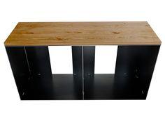 metall regal mit holz stahlm bel pinterest. Black Bedroom Furniture Sets. Home Design Ideas