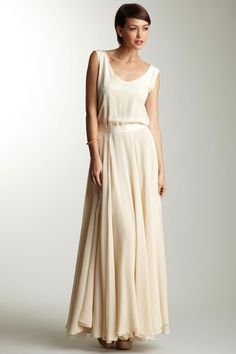 I <3 maxi dresses and this cream colored # is a dream!