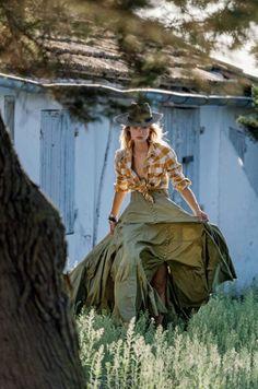 Maartje Verhoef's 'Gaucho Girl' Romantic Western Style ELLE Italy — Anne of Carversville