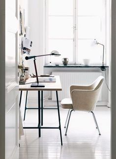 white creative work space / sfgirlbybay