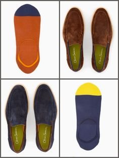 Oliver Sweeney Loafer socks are perfect for the summer 'sockless' look. #socks   #socksforleathershoes  #loafer