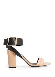 MANGO leren sandalen met enkelband  #hogehakken #highheels