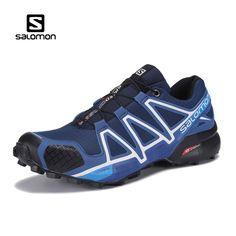7538cebac220 Hot Sale Salomon Shoes Blue zapatos hombre men Speed Cross 4 CS Sneakers  Outdoors Training Sport