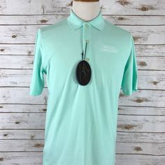 NEW Greg Norman Golf Polo Moisture Wicking Pastel Green Hospice of PA SMALL NWT  | eBay