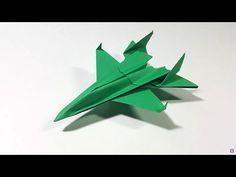 Como hacer un Avion de Papel que Vuela Mucho - Aviones de Papel - Origami Avión | F16 - YouTube