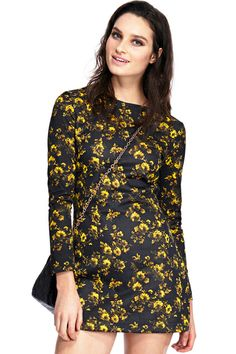 ROMWE Floral Print Elastic Dress