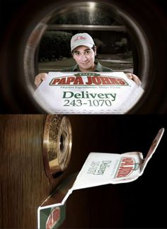 Ingenious!  -- This ad cracks me up!  Peephole advertisers
