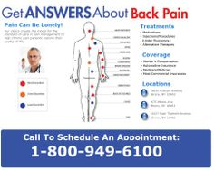 Get Answers About Your Back Pain - Bronx New York Doctors with Several Locations To Serve You: 1-800-949-6100