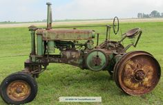 Antique John Deere G All Fuel Tractor Antique & Vintage Farm Equip photo